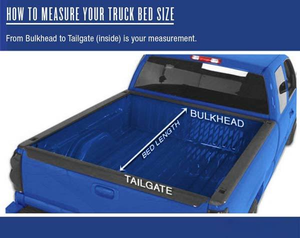 How do you measure a truck for a tonneau cover?